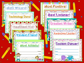 NEW: 30+ End of Year Class Awards!