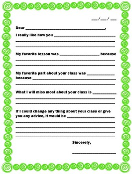 NEW  End of the Year Writing Activity FUN END OF THE YEAR ACTIVITY!