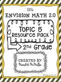 NEW enVision Math 2.0 2nd Grade Topic 5 Resource Pack