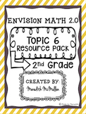 NEW enVision Math 2.0 2nd Grade Topic 6 Resource Pack