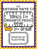 NEW enVision Math 2.0 2nd Grade Topics 1-4 Resource Pack Bundle