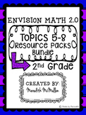 NEW enVision Math 2.0 2nd Grade Topics 5-8 Resource Packs Bundle
