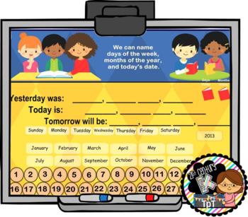 Everyday Interactive Calendar for PROMETHEAN Board PK, K, 1st