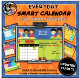 Interactive Calendar for SMART Board PK, K, 1st - Everyday Theme
