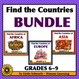 NEW! FIND THE COUNTRIES BUNDLE •  GRADES 6–9