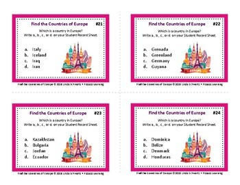 FIND THE COUNTRIES OF EUROPE • GRADES 6–9