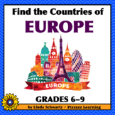 NEW! FIND THE COUNTRIES OF EUROPE • GRADES 6–9