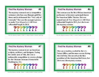 FIND THE MYSTERY WOMAN • GRADES 4–6 • Ideal for Early Finishers!
