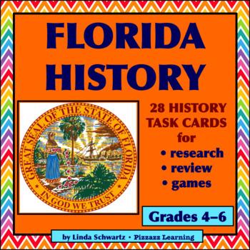 NEW • FLORIDA HISTORY QUIZ TASK CARDS • GRADES 4–6