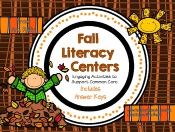 NEW Fall Literacy Centers & Activities