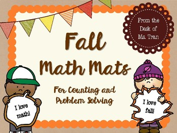 NEW  Fall Math Mats Great for K-1 Counting and Word Problem Solving