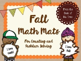 NEW  Fall Math Mats Great for K-1 Counting and Problem Solving!