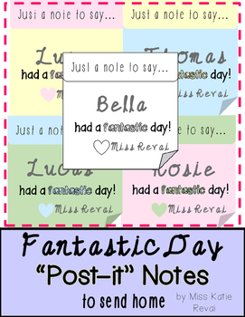 Positive Notes to Send Home: Fantastic Day in Pastel + Black & White