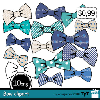 NEW Father`s day Bow tie clipart+Outline black white, comm