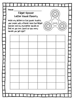 NEW  Fidget Spinner Letter Name and Letter Sound Fluency