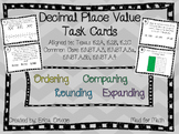 NEW! Fifth Grade Decimal Place Value Task Cards 5.2A, 5.2B, 5.2C
