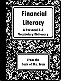 NEW  Financial Literacy A-Z Personal Dictionary (Also includes K-5 vocabulary!)