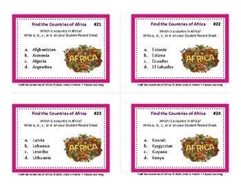Find the Countries of Africa • GRADES 6–9