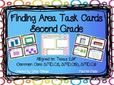 NEW Finding Area Task Cards Second & Third Grade 2.9F 3.MD.C.5 3.MD.C.6