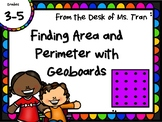 NEW  Finding Area and Perimeter using Geoboards GREAT HANDS-ON PRACTICE!