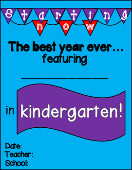 First Day of School Posters Pre-K thru 6th (color + black & white)