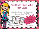 NEW First Grade Place Value Task Cards 1.2C 1.NBT.A.1