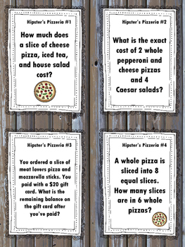 NEW Food Truck Math: Hipster's Pizzeria Food Truck Math Task Cards
