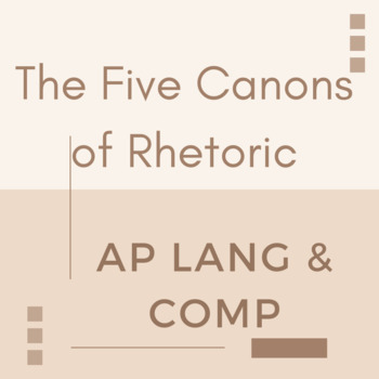 NEW For 2019 AP Language and Composition: Five Canons of Rhetoric, Open Prompt