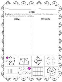 NEW NO PREP! Fraction Activity Pack Second Grade 2.3A 2.3B 2.3C 2.3D