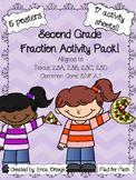 NEW NO PREP! Fraction Activity Pack Second Grade 2.3A 2.3B 2.3C 2.3D
