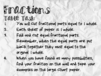 *FREEBIE* Fractional Parts Equal to One Whole: Fun Fraction Exploration Activity