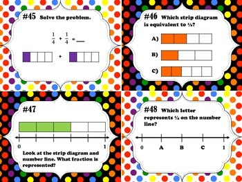 NEW  Fractions Task Cards (TEKS 3.3A - 3.3H & CC 3.NF.A.1 - 3.NF.A.3.D)