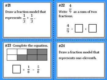 NEW  Fractions (aligned to TEKS 4.3A, 4.3B, CC 4.NF.B.3, 4.NF.B.3.a, 4.NF.B.3.b)