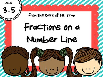 NEW  Fractions on a Number Line HANDS-ON ACTIVITY Great for grades 4th-6th!