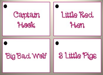 NEW Fractured fairy tale cards! Create your own fairy tale!