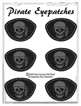 Free! Pirate Eyepatches (Eye Patch) Printable Activity for Pirate Unit