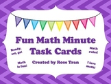 NEW  Fun Math Minute Task Cards GREAT FOR BRAIN BREAKS!