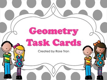 NEW  Geometry Angles & Lines Task Cards (TEKS 4.6A & CC 4.G.A.1)