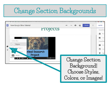 NEW Google Sites Tutorial, Student E-portfolios, Student Websites -  Editable!