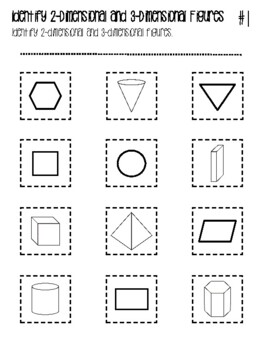 NEW  Gr. 3-5 Geometry Identify and Classify Cut and Paste Review Activity