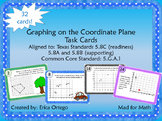 NEW! Graphing on Coordinate Plane Task Cards 5.8C, 5.8A, 5