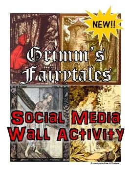 NEW! Grimm's Fairytales Social Media Wall Interavtive Classroom Activity