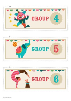 Group Labels – Circus