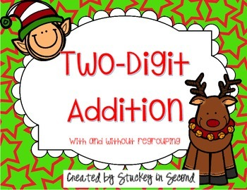 Two Digit Addition & Subtraction Christmas Pack