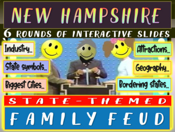 NEW HAMPSHIRE FAMILY FEUD Engaging game about cities, geography, industry & more