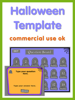Halloween PowerPoint Game Template  Commercial Use OK