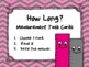 NEW  How Long? Measurement Task Cards (TEKS 1.7A,B,C,D & 1.MD.A.2)