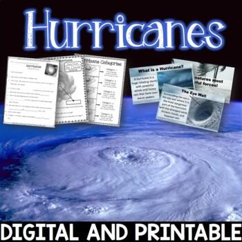 Hurricanes Editable PowerPoint and Printables Freebie Hurricane Harvey / Irma