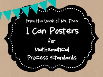 **FREEBIE**  I CAN POSTERS for Mathematical Process Standards