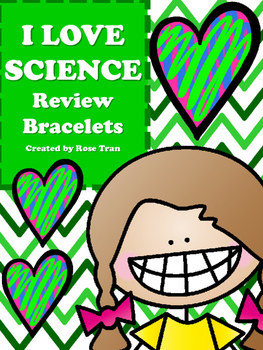 NEW  I LOVE SCIENCE Review Bracelets GREAT FOR 5TH SCIENCE STAAR TEST